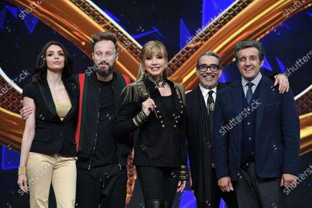 Milly Carlucci and jury, Ilenia Pastorelli, Francesco Facchinetti, Guillermo Mariotto, Flavio Insinna