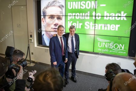 Editorial picture of Keir Starmer visit to Unison HQ, London, UK - 09 Jan 2020