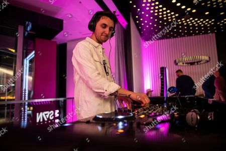 Max Styler deejays the Steve Aoki SVN launch event at the T-Mobile Strip store on in Las Vegas