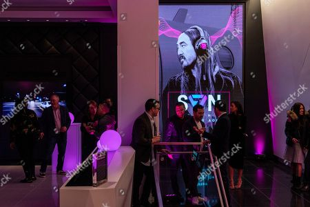 Attendees gather for the Steve Aoki SVN launch event at the T-Mobile Strip store on in Las Vegas