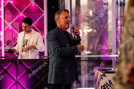 T-Mobile Senior Vice President of National Sales and Distribution Doug Chartier speaks during the Steve Aoki SVN launch event at the T-Mobile Strip store on in Las Vegas