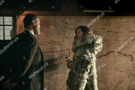 Christopher Heyerdahl as Mayor George Maynard and Julianne Nicholson as Constance Seppala
