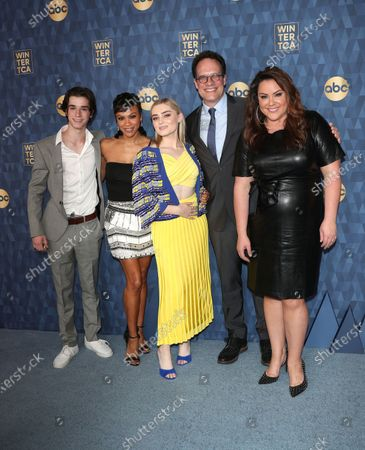 Stock Photo of Daniel DiMaggio, Carly Hughes, Meg Donnelly, Diedrich Bader and Katy Mixon