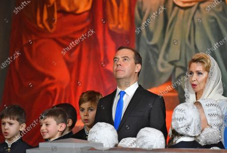 Editorial picture of Russian Orthodox Christmas service, Moscow, Russian Federation - 07 Jan 2020