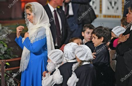 Editorial image of Russian Orthodox Christmas service, Moscow, Russian Federation - 07 Jan 2020