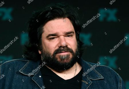 """Matt Berry, a cast member in the FX series """"What We Do in the Shadows,"""" takes part in a panel discussion on the show at the 2020 FX Networks Television Critics Association Winter Press Tour, in Pasadena, Calif"""