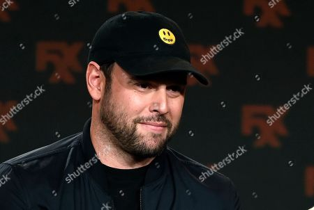 "Scooter Braun, an executive producer of the FX comedy series ""Dave,"" takes part in a panel discussion on the show at the 2020 FX Networks Television Critics Association Winter Press Tour, in Pasadena, Calif"