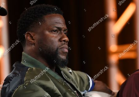 "Stock Photo of Kevin Hart, an executive producer of the FX comedy series ""Dave,"" takes part in a panel discussion on the show at the 2020 FX Networks Television Critics Association Winter Press Tour, in Pasadena, Calif"