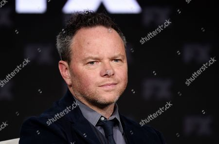 """Noah Hawley, the creator/executive producer/writer/director of the FX series """"Fargo,"""" takes part in a panel discussion on the show at the 2020 FX Networks Television Critics Association Winter Press Tour, in Pasadena, Calif"""