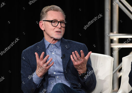 """Warren Littlefield, the executive producer of the FX series """"Fargo,"""" takes part in a panel discussion on the show at the 2020 FX Networks Television Critics Association Winter Press Tour, in Pasadena, Calif"""