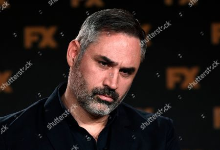 "Alex Garland, the creator/executive producer/writer/director of the FX on Hulu limited series ""Devs,"" takes part in a panel discussion on the show at the 2020 FX Networks Television Critics Association Winter Press Tour, in Pasadena, Calif"