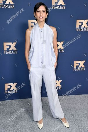 Sonoya Mizuno poses at the the FX portion of theTelevision Critics Association Winter press tour, in Pasadena, Calif
