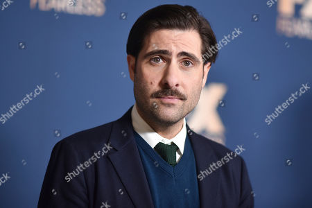 Jason Schwartzman poses at the the FX portion of the Television Critics Association Winter press tour, in Pasadena, Calif
