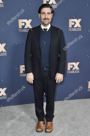 Jason Schwartzman poses at the the FX portion of theTelevision Critics Association Winter press tour, in Pasadena, Calif
