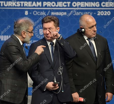 Chairman of the Board of Gazprom Alexey Miller and Bulgarian Prime Minister Boyko Borisov attend the ceremony