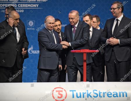 Editorial picture of Launch Ceremony for the TurkStream Gas Pipeline, Istanbul, Turkey - 08 Jan 2020