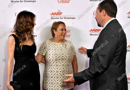 Jackie Sandler, Jo Ann Jenkins and Adam Sandler