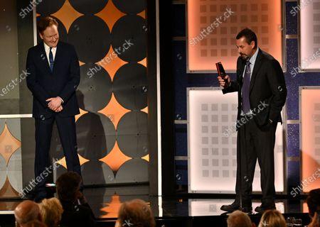 Adam Sandler - Best Actor - Uncut Gems - presented by Conan O'Brien