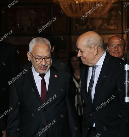 Editorial photo of French Foreign Affairs Minister Jean-Yves Le Drian visit to Tunisia - 09 Jan 2020