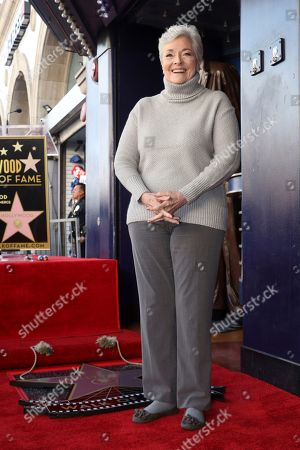 Stock Photo of Lee Meriwether attends a ceremony honoring Burt Ward with a star at the Hollywood Walk of Fame, in Los Angeles