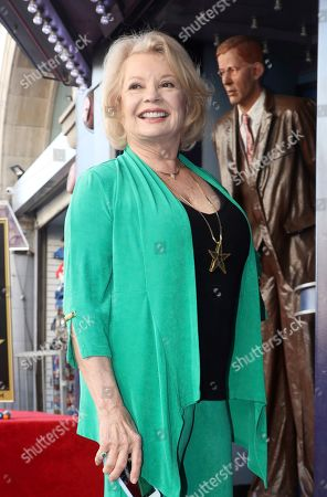 Kathy Garver attends a ceremony honoring Burt Ward with a star at the Hollywood Walk of Fame, in Los Angeles