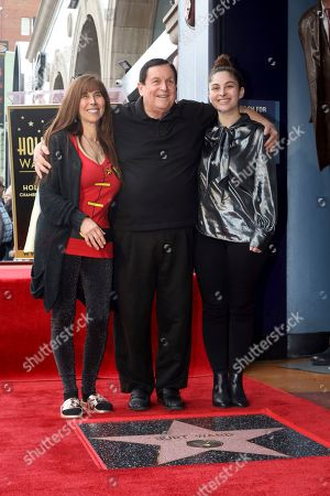 Stock Image of Tracy Posner, Burt Ward, Melody Lane Ward. Tracy Posner, from left, Burt Ward and their daughter Melody Lane Ward pose for a photo following a ceremony honoring Burt Ward with a star at the Hollywood Walk of Fame, in Los Angeles