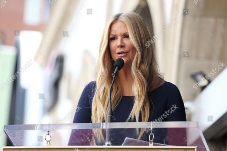 Nancy O'Dell speaks at a ceremony honoring Burt Ward with a star at the Hollywood Walk of Fame, in Los Angeles