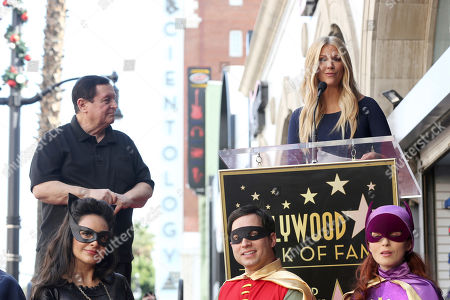 Burt Ward, Nancy O'Dell. Burt Ward, left, and Nancy O'Dell speak at a ceremony honoring Burt Ward with a star at the Hollywood Walk of Fame, in Los Angeles
