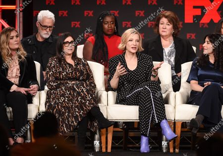 Stock Image of Coco Francini, Stacey Sher, Cate Blanchett, Dahvi Waller, John Slattery, Uzo Aduba and Margo Martindale