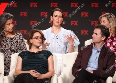 Stock Image of Anna Boden, Ryan Fleck, Tracey Ullman, Sarah Paulson and Elizabeth Banks