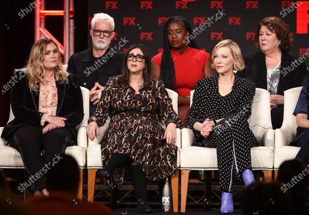 Stock Image of Coco Francini, Stacey Sher, Cate Blanchett, John Slattery, Uzo Aduba and Margo Martindale