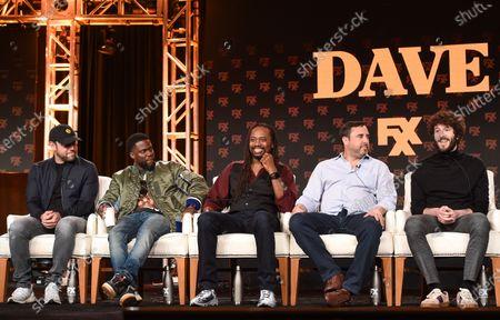Scooter Braun, Kevin Hart, Saladin Patterson, Jeff Schaffer and Lil Dicky