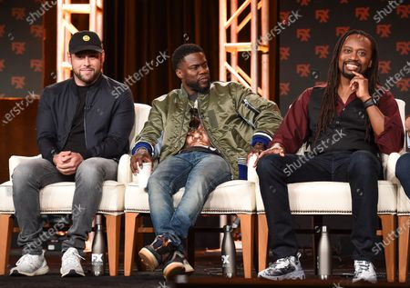 Scooter Braun, Kevin Hart and Saladin Patterson