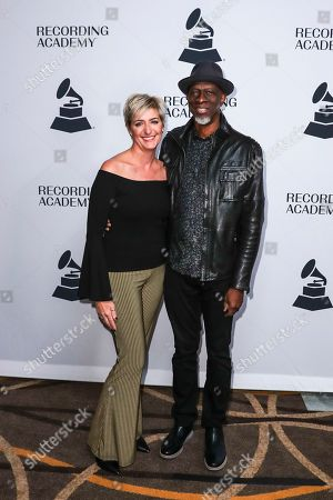 Keb'Mo', Robbie Moore. Keb'Mo', right, with his wife, Robbie Moore arrive at the 62nd Annual GRAMMY Awards - Nashville Nominee Party at the Hutton Hotel, in Nashville, Tenn