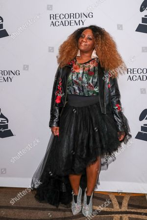 Stock Image of Lenesha Randolph of Robert Randolph and the Family Band arrives at the 62nd Annual GRAMMY Awards - Nashville Nominee Party at the Hutton Hotel, in Nashville, Tenn