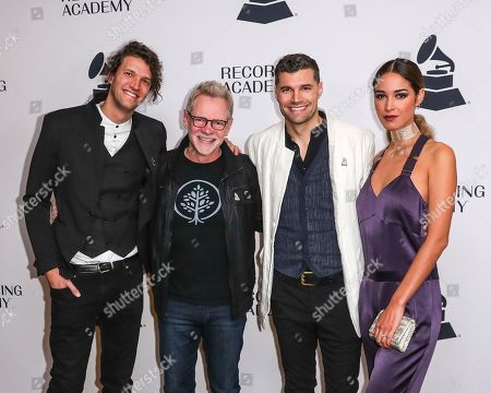 Stock Picture of Luke Smallbone, Joel Smallbone, for King and Country, Steven Curtis Chapman, Moriah Peters. Luke Smallbone, from the left, Steven Curtis Chapman, Joel Smallbone and his wife, Moriah Peters arrive at the 62nd Annual GRAMMY Awards - Nashville Nominee Party at the Hutton Hotel, in Nashville, Tenn
