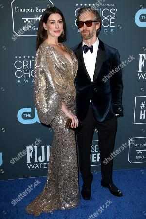 Stock Photo of Anne Hathaway and Adam Shulman