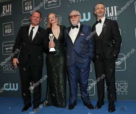 Kevin Messick, Sarah Snook, Brian Cox and Jeremy Strong - Best Drama Series - Succession