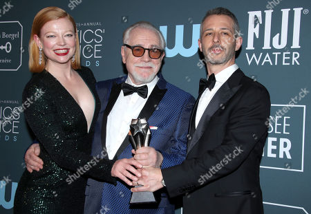 Sarah Snook, Brian Cox and Jeremy Strong - Best Drama Series - Succession