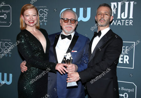 Stock Picture of Sarah Snook, Brian Cox and Jeremy Strong - Best Drama Series - Succession