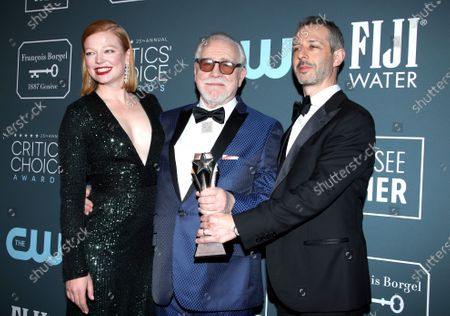 Stock Photo of Sarah Snook, Brian Cox and Jeremy Strong - Best Drama Series - Succession