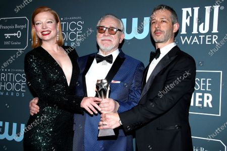 Stock Image of Sarah Snook, Brian Cox and Jeremy Strong - Best Drama Series - Succession