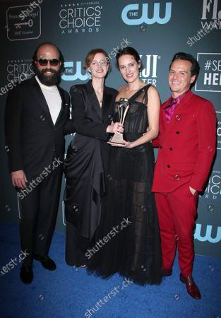 Brett Gelman, Isobel Waller-Bridge, Phoebe Waller-Bridge and Andrew Scott - Best Comedy Series - Fleabag