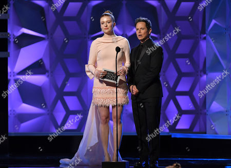 Stock Picture of Kennedy McMann and Scott Wolf