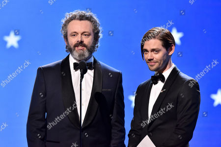 Stock Picture of Michael Sheen and Tom Payne