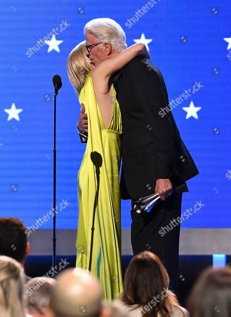 Stock Image of Kristen Bell - #SeeHer Award and Ted Danson