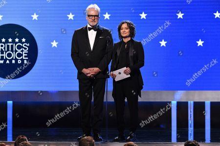 Bradley Whitford and Sara Gilbert