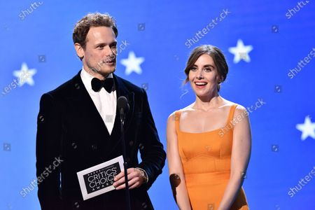 Sam Heughan and Alison Brie