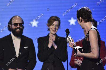 Brett Gelman, Isobel Waller-Bridge and Phoebe Waller-Bridge - Best Comedy Series - Fleabag