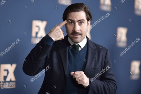 Stock Picture of Jason Schwartzman poses at the the FX portion of theTelevision Critics Association Winter press tour, in Pasadena, Calif